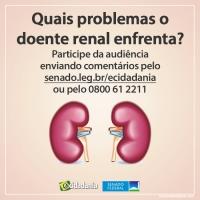 Participe da Audiência Pública – Quais problemas o doente renal enfrenta?