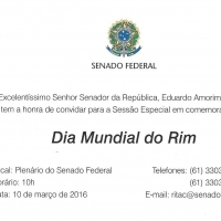 Senado Federal realiza Sessão Especial no Dia Mundial do Rim