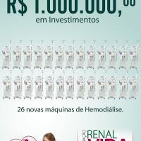 Renal Vida entrega mais de R$ 1 milhão em investimentos com recursos captados junto à comunidade do Vale do itajaí